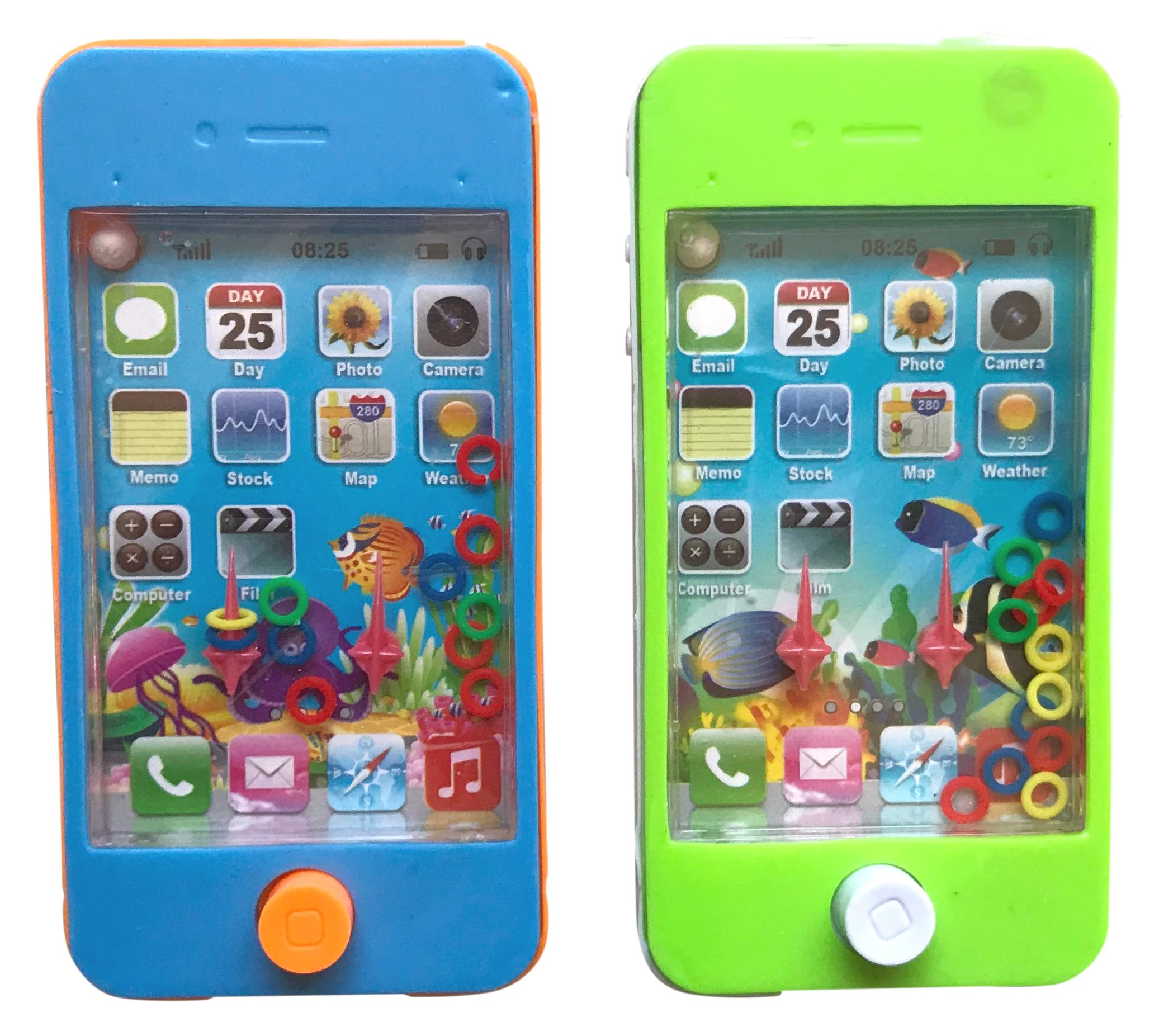 Handheld Phone Water Game and Maze Pocket Travel Games (Pack of 2)