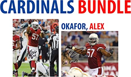 2c510d1c Alex Okafor Arizona Cardinals Autographed 8