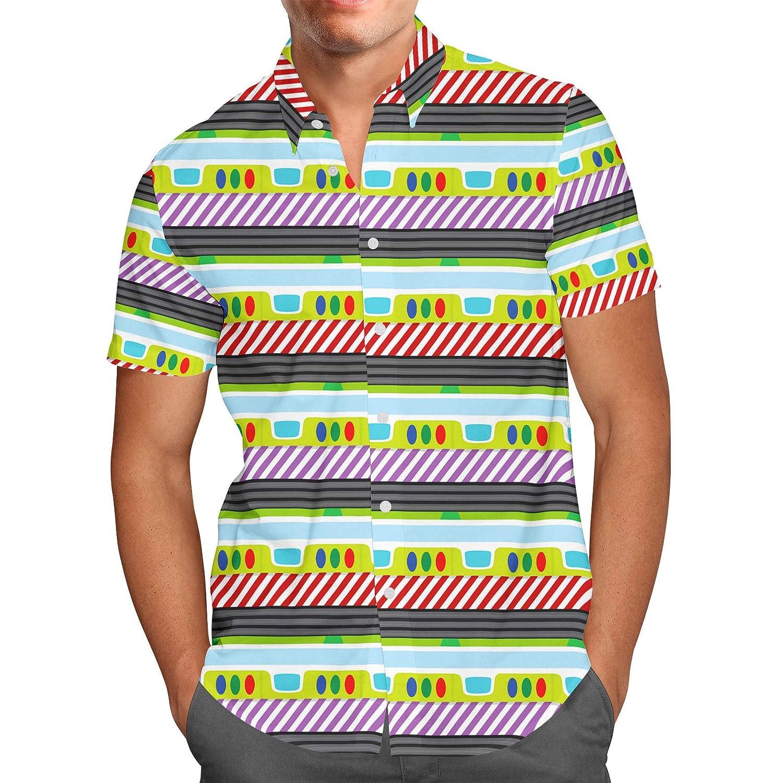Buzz Lightyear Mens Button Down Short Sleeve Shirt