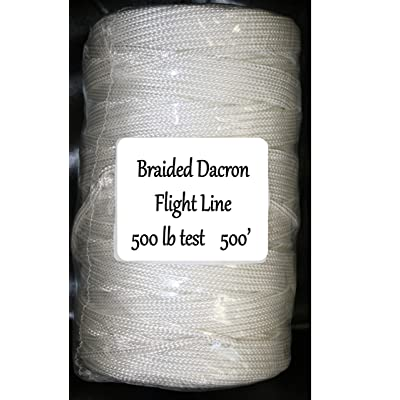 Skydog Kites 500 lb Test - 500' Braided Dacron Flight Line: Sports & Outdoors