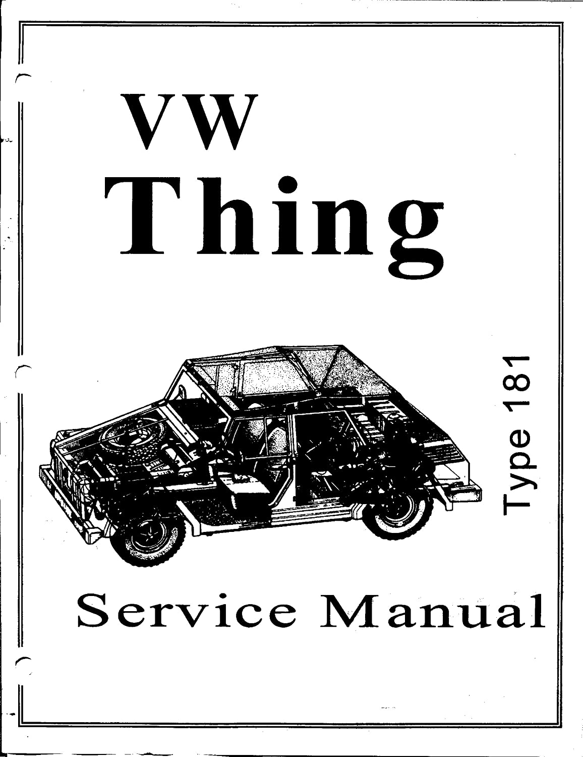 Amazon.com : 1973 1974 Volkswagen VW Thing Type 181 Shop Manual Service  Book Guide Hi-Res on a CD : Everything Else