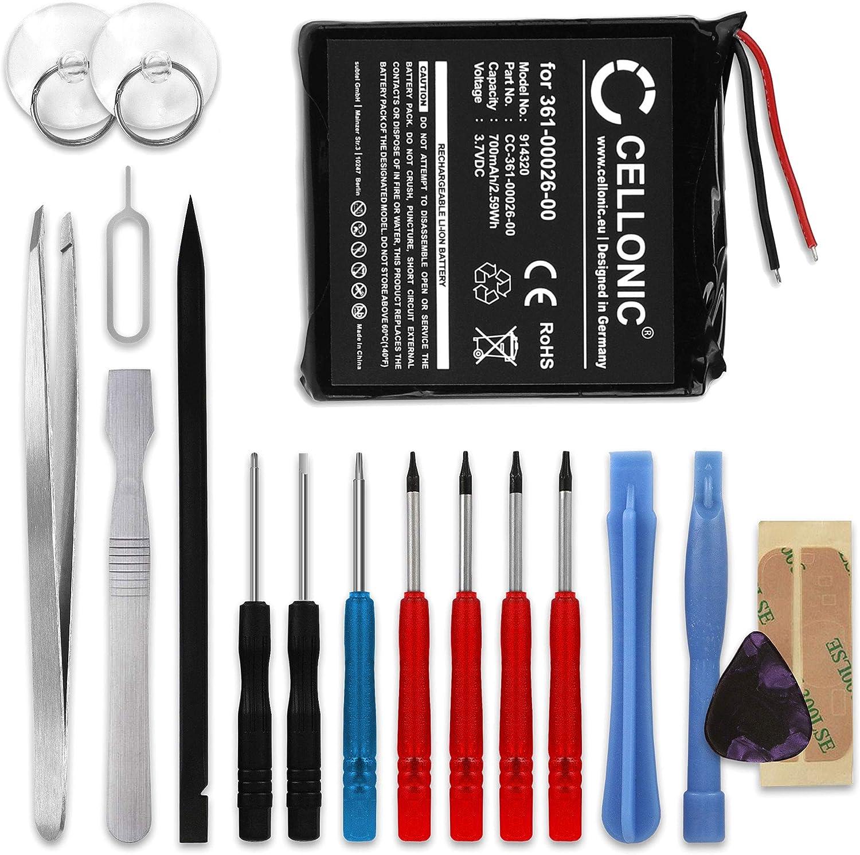 ForeRunner 305 /00026/ equivalente a Garmin 361/ /00/con Juego de herramientas Forerunner 305i bater/ía de ion de litio 700/mAh compatible con Garmin Forerunner 205 CS GPS