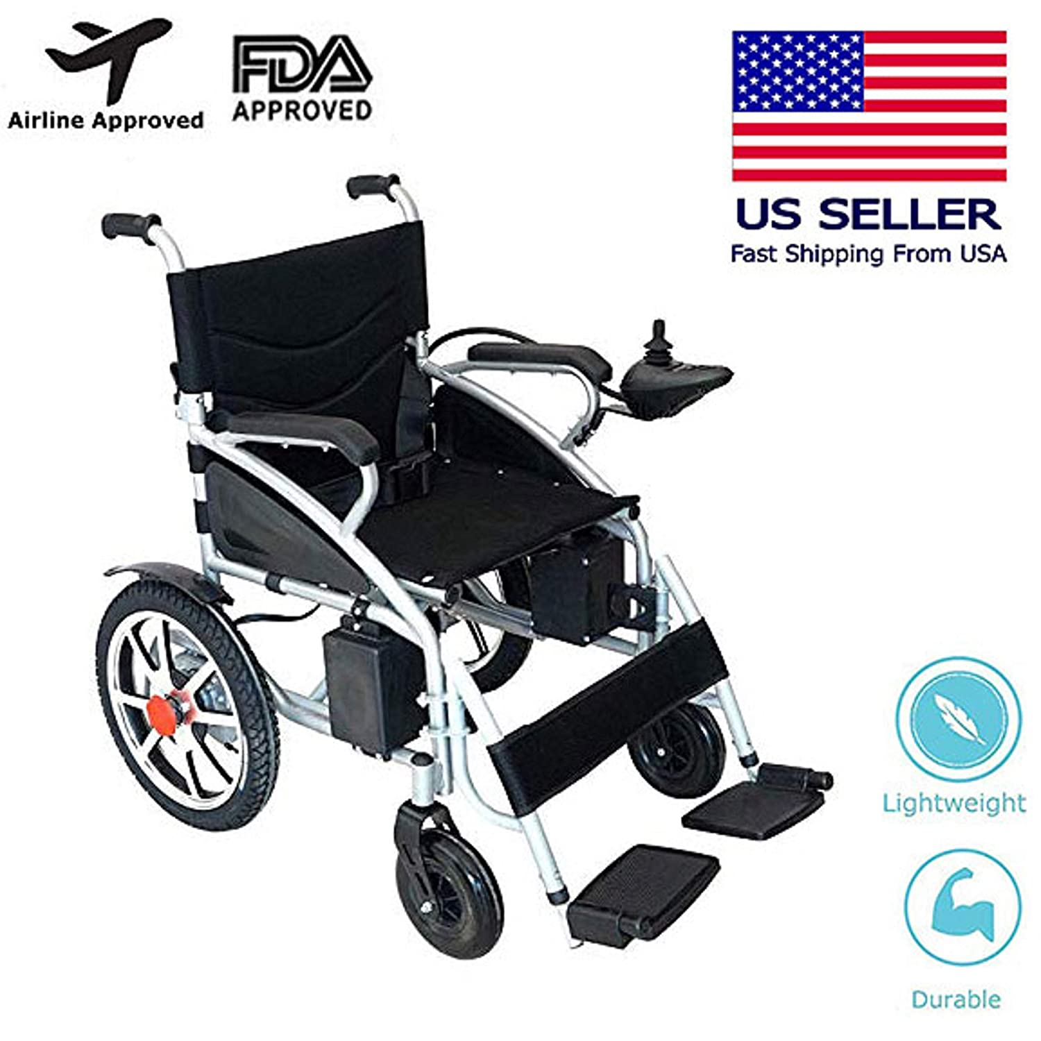 Mobile Wheelchair, Intelligent Electric Motorized Wheelchair, Portable Folding Durable Power Wheel Chair,...