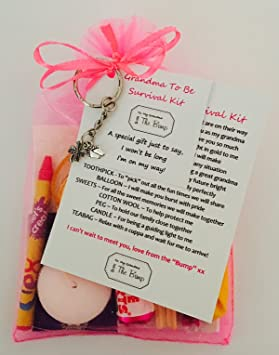 New Grandma To Be Survival Gift Kit Card From QuotThe Baby Bumpquot
