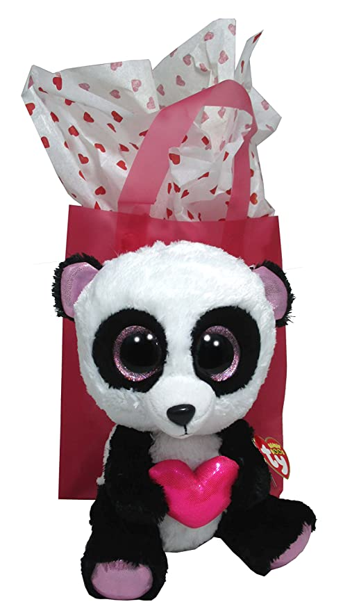 Image Unavailable. Image not available for. Color  Ty Beanie Boos Cutie Pie  The Panda with Heart ... dc77387ab01f