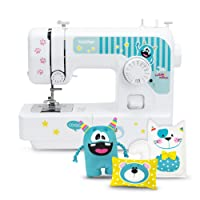 Brother Kullaloo J14 S Kindernähmaschine inklusive Fingerschutz und Kullaloo Anfänger Nähset KINDERLEICHT Nähkurs Little Friends