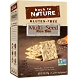 Back To Nature Gluten Free, Non GMO, Multi-Seed Rice Thin Crackers, 4 ounce