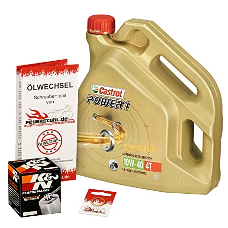 ölwechselset Castrol horas1 10 W-40 Aceite + K & N cromo de ...