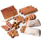 40pcs Unihom Mixed Cedar Moth Repellent Set: Hang Ups, Balls and Nuggets