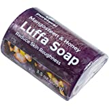 Luffa Soap Bar Exfoliant to clean dark spots dirt Body Scrub Soap for skin Whitening with Natural Mangosteen and Honey Original by Puretural