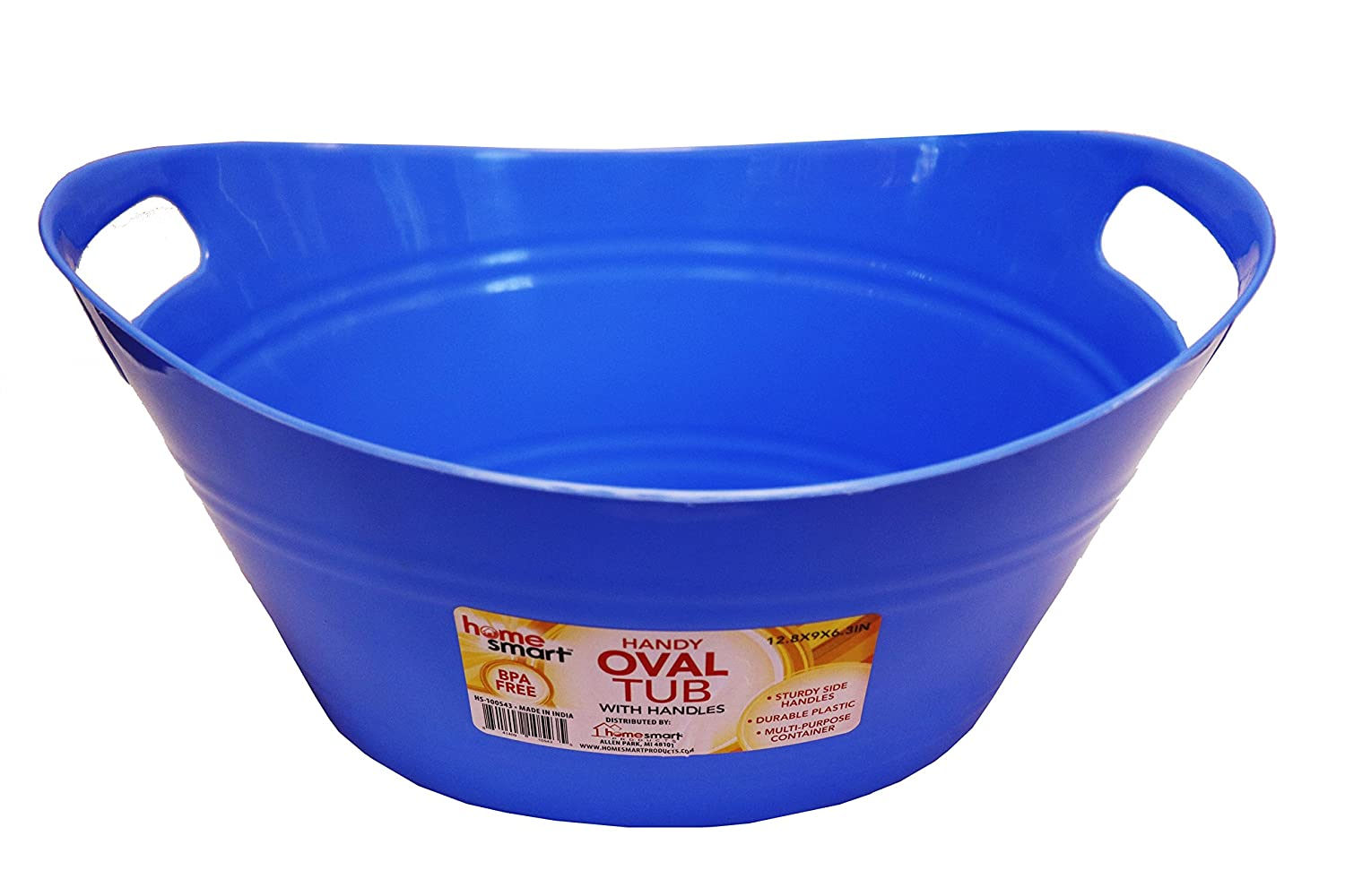 Amazon.com: Oval plastic storage tubs with handle - Small size ...