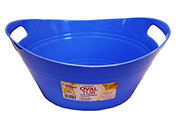 Amazoncom Oval Plastic Storage Tubs With Handle Small Size