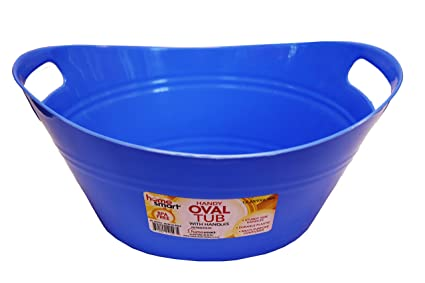 Oval Plastic Storage Tubs With Handle   Small Size: (12.5u0026quot; X 9.25 X