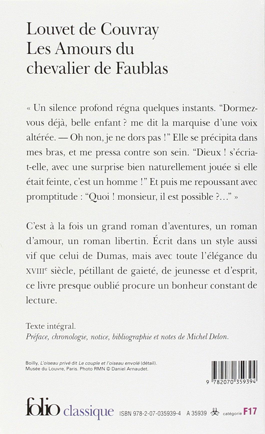 Les Amours Du Chevalier De Faublas Folio Classique Amazon