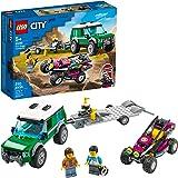 LEGO Kit de construcción City 60288 Camioneta de Transporte del Buggy de Carreras (210 Piezas)