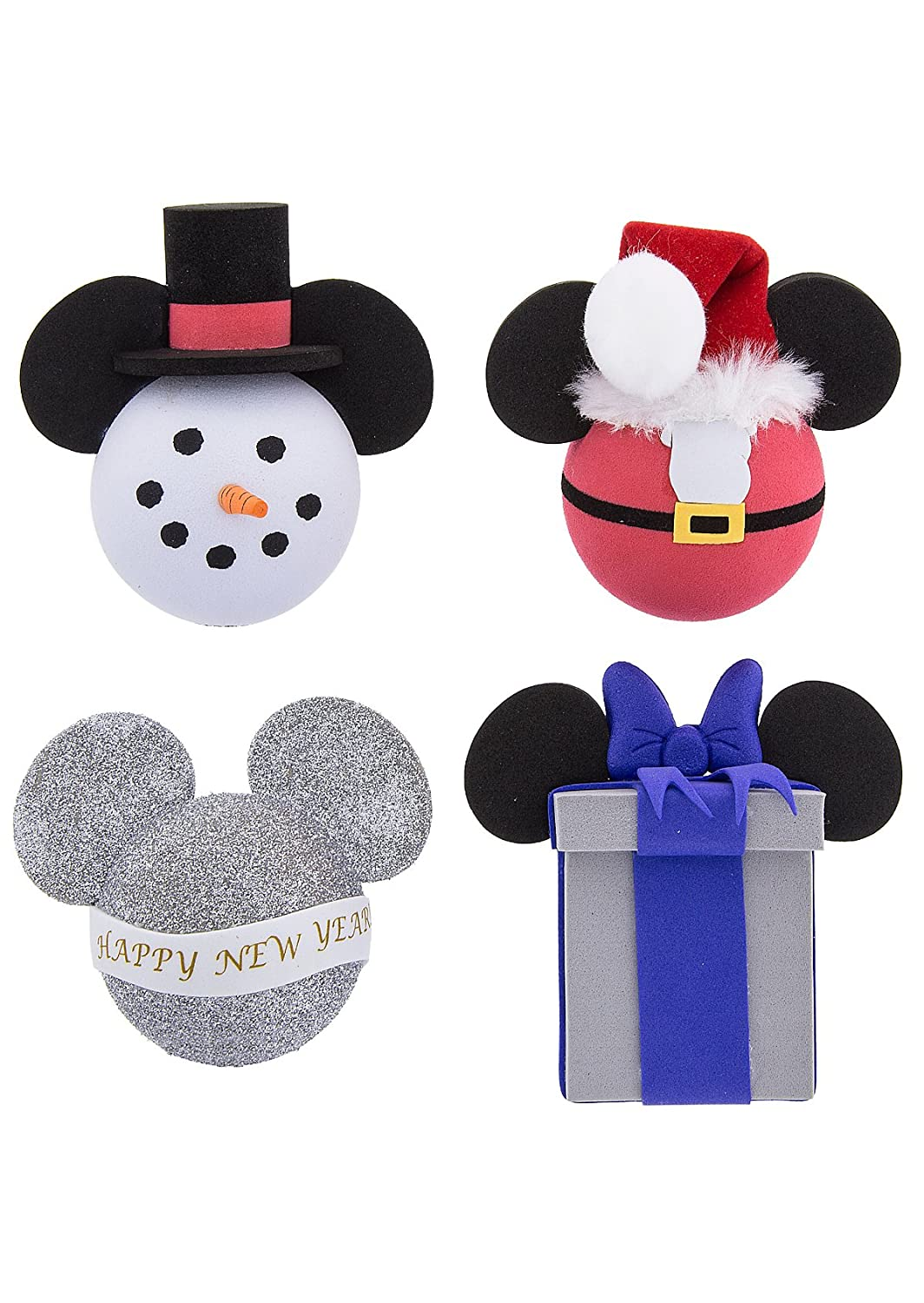 Disney Parks Christmas New Year Holiday Car Antenna Pencil Topper Set of 4 Themepark Essentials