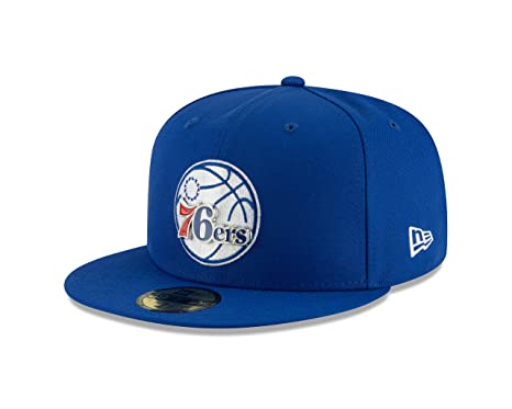 online retailer d97cc 4873c New Era Philadelphia 76ers Metal and Thread Fitted 59Fifty NBA Hat - Royal ( 7 1