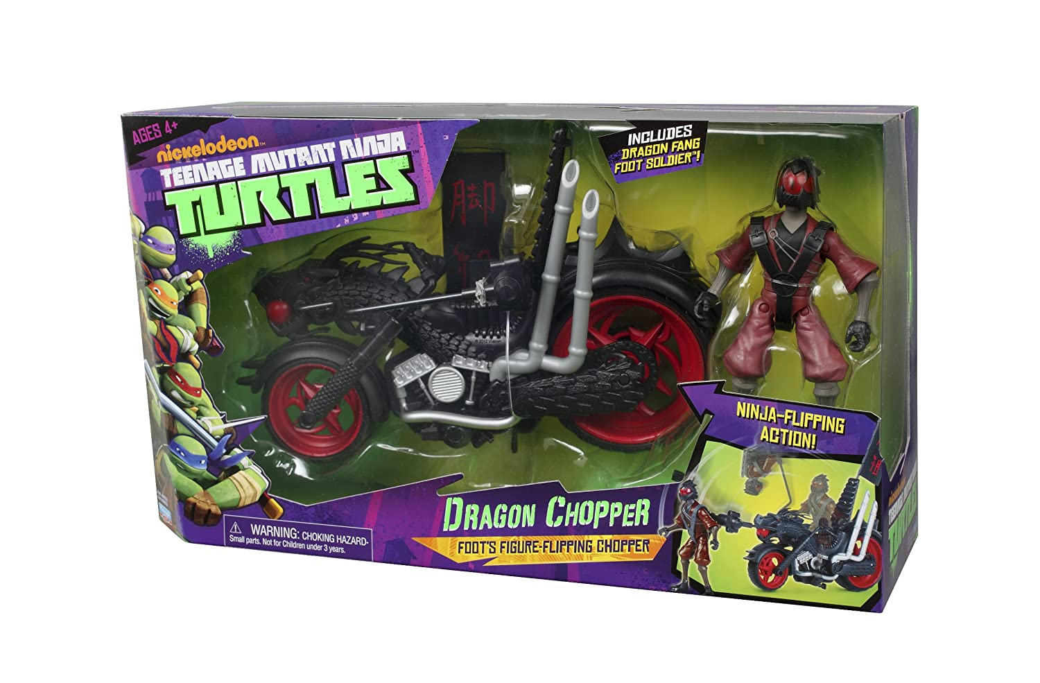 Teenage Mutant Ninja Turtles - Muñeco con Moto Dragon Chopper