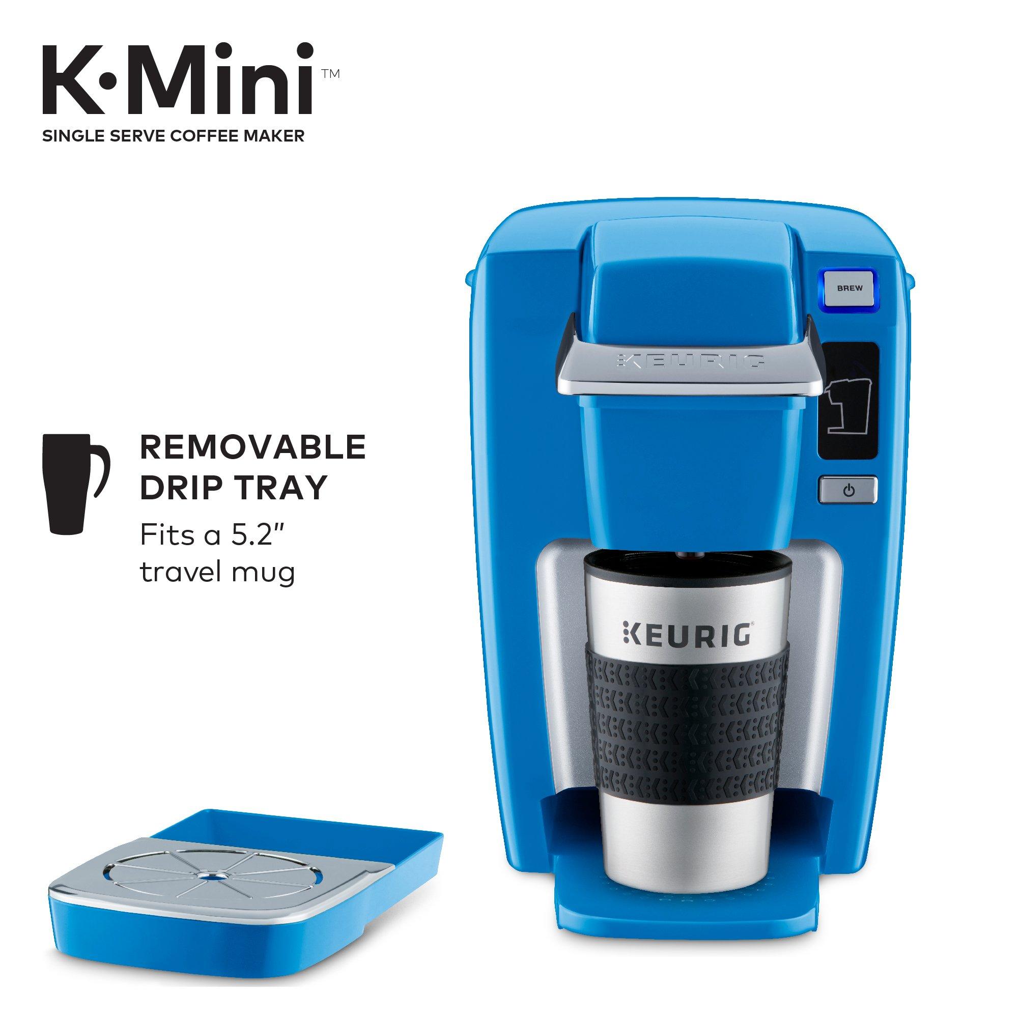 Keurig K15 Single Serve Compact K-Cup Pod Coffee Maker, True Blue by Keurig (Image #3)