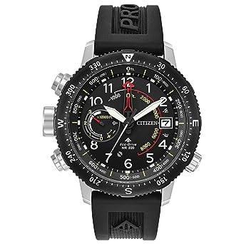 7252921e939 Men s Citizen Eco-Drive Promaster Altichron Black Polyurethane Strap and  Black Dial Watch BN5058-
