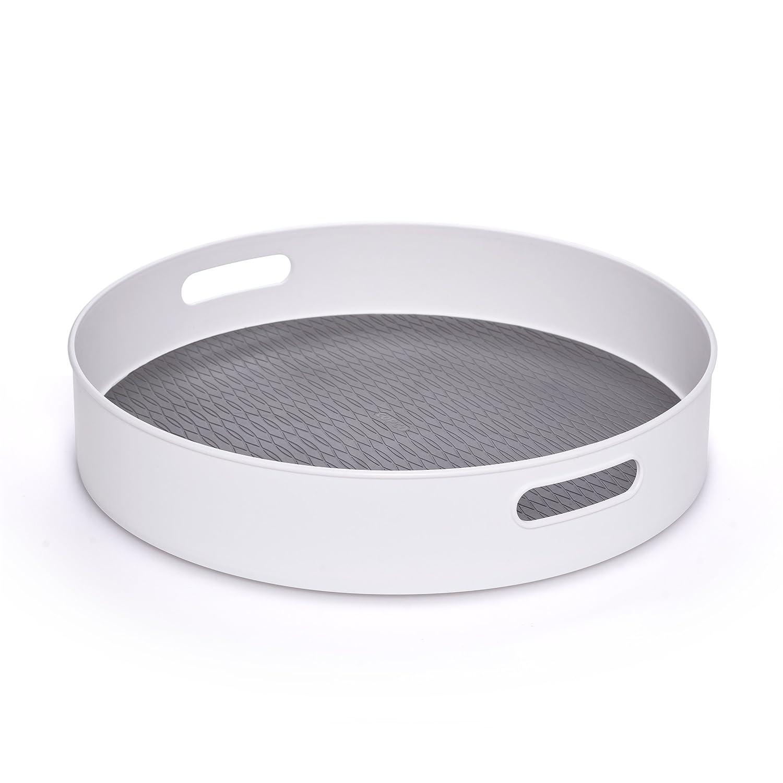 """Copco 5218433 Non-Skid Under-Sink Pantry Cabinet Kitchen Organizer 18"""" White/Gray"""