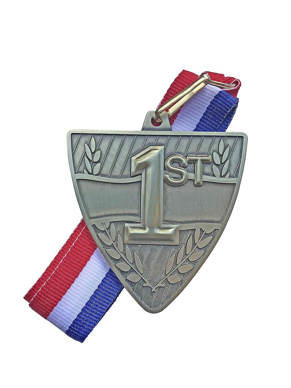 Express Medals 1位 賞 メダル レッド ホワイト ブルー ネックリボン B07HW2KGG9