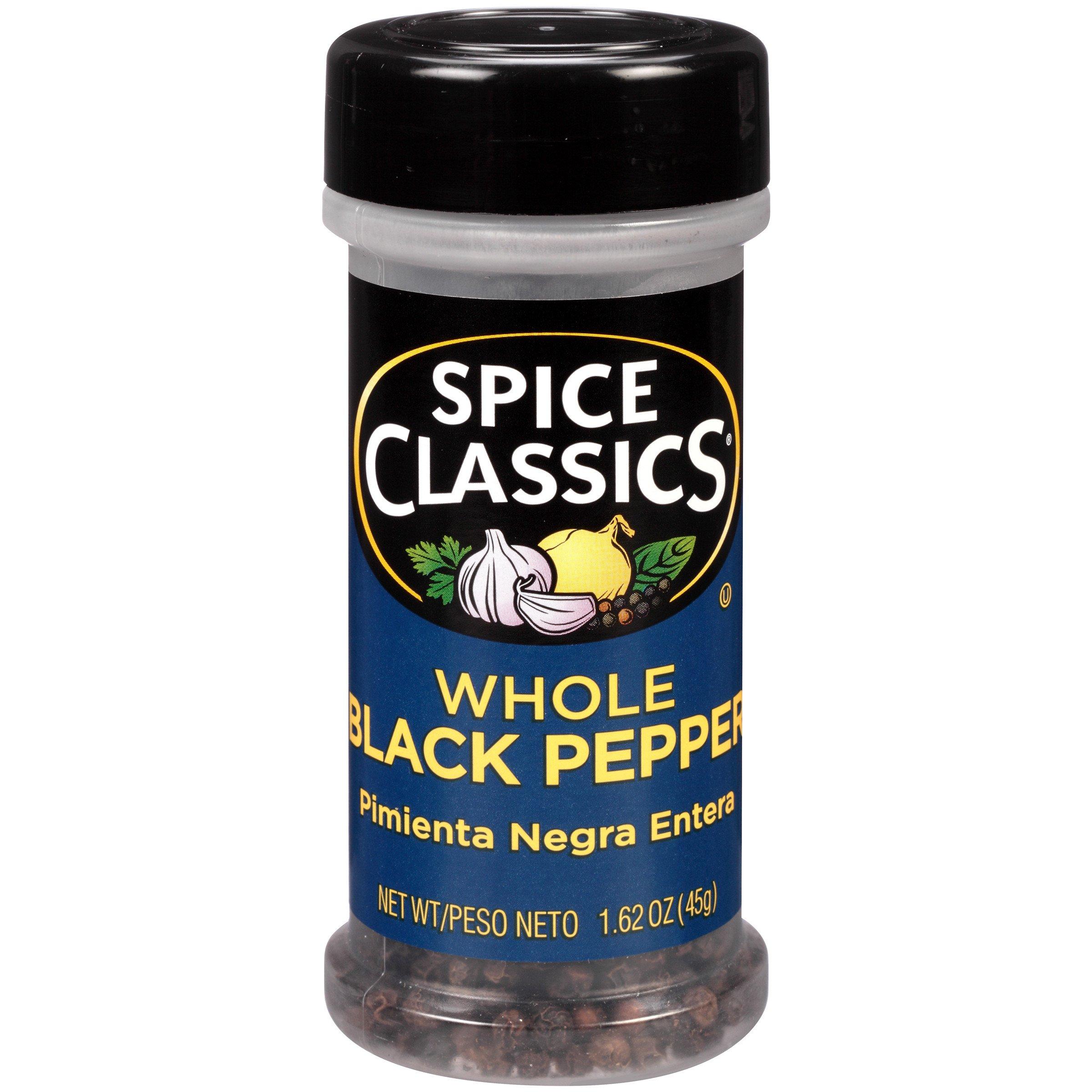 Spice Classics Whole Black Pepper, 1.62 oz