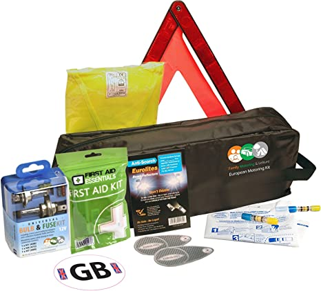 Essential Emergency Breakdown Travel Motoring Kit Abroad Driving to Europe France G