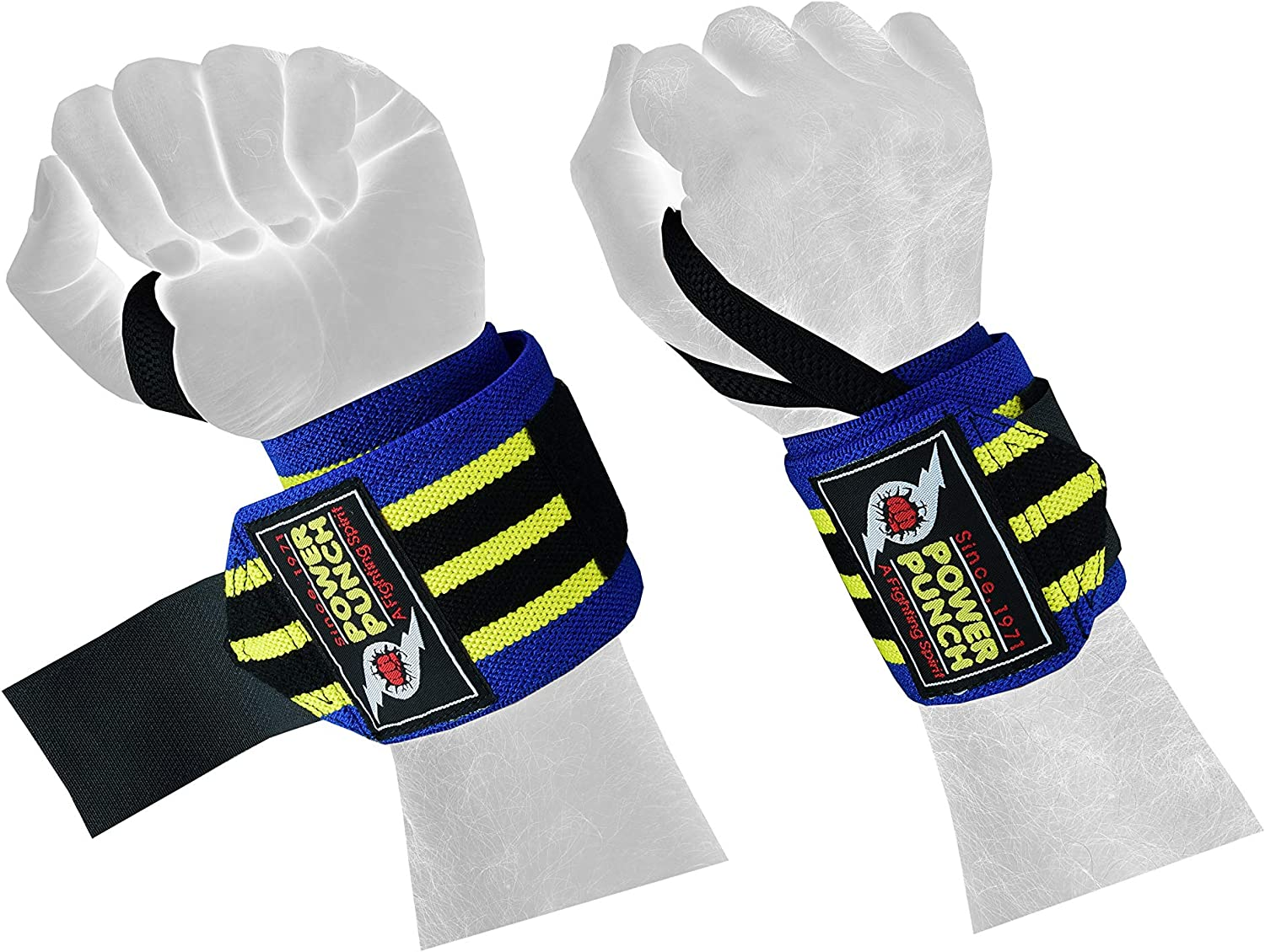 Maximize Your Weightlifting Thumb Loops Gray-Black Camo Pattern Strength Training | Strong Fastening Straps POWER PUNCH Wrist Wraps