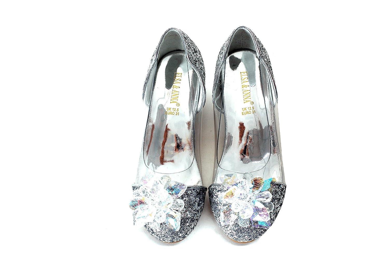Buena Calidad ELSA & ANNA® Niñas Última Diseño Princesa Reina de Nieve Partido Zapatos Zapatos de Fiesta sandalias SIL15-SH UK1stChoice-Zone
