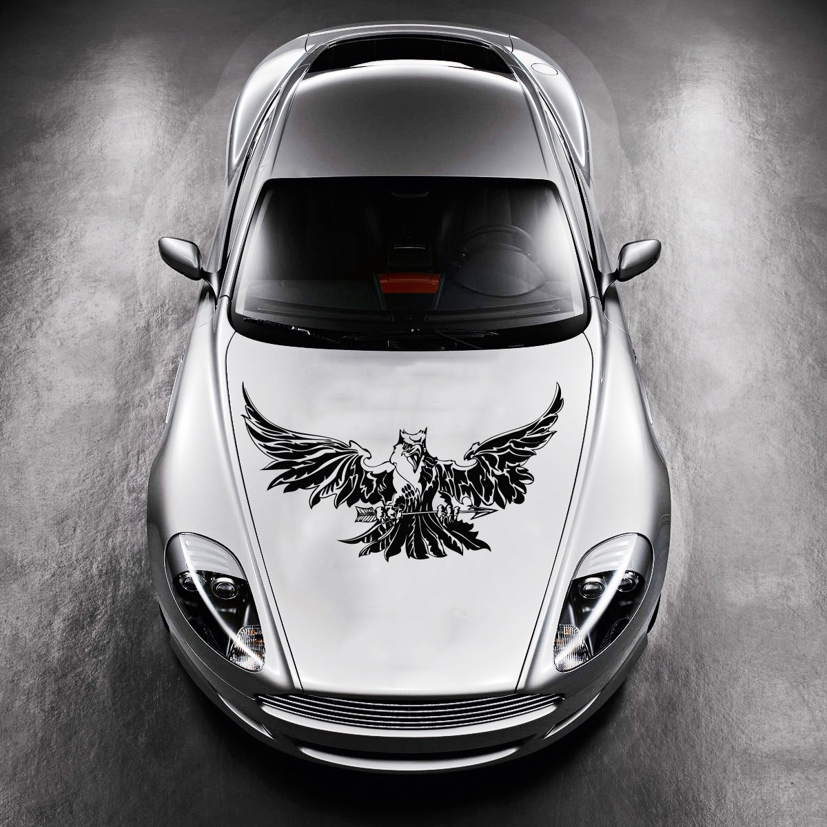 Amazon com vinyl decals for car hood animal flaming tribal eagle bird wings sticker art any vehicle window graphics mural 1429 home improvement