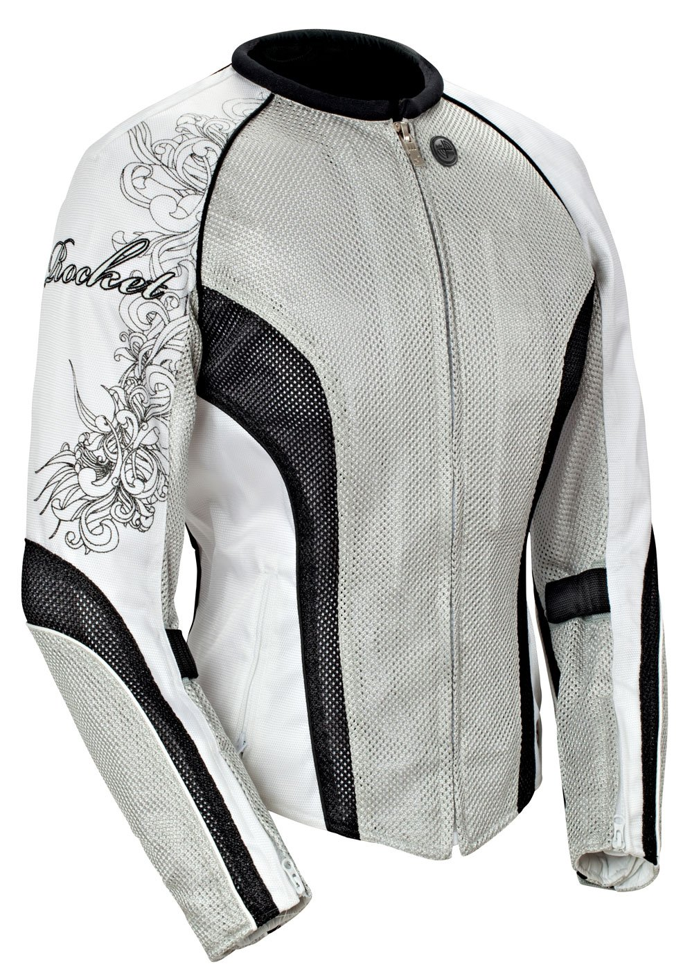 Black//Black, Large Joe Rocket Cleo 2.2 Womens Mesh Motorcycle Riding Jacket