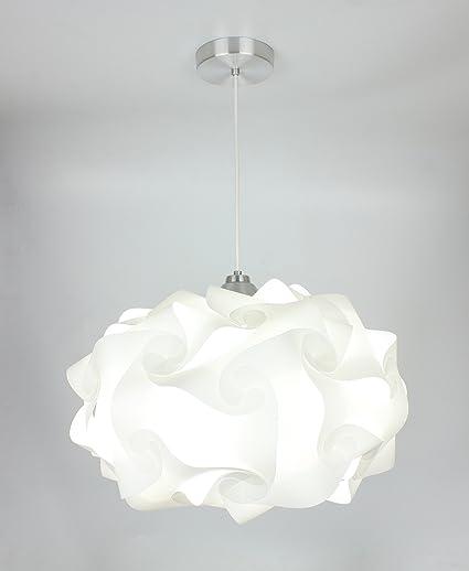 cheap for discount 364b9 4474b EQLight PP4L01 Cloud Light Contemporary Pendant, White, Large