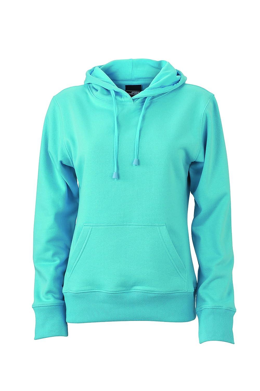 James & Nicholson Herren Hooded Sweat Sweatshirt, Blau (Pacific), Medium