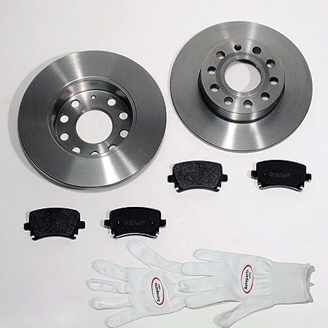 Bremsscheiben Bremsbeläge Bremsbeläge für hinten Hinterachse Audi A4 B7