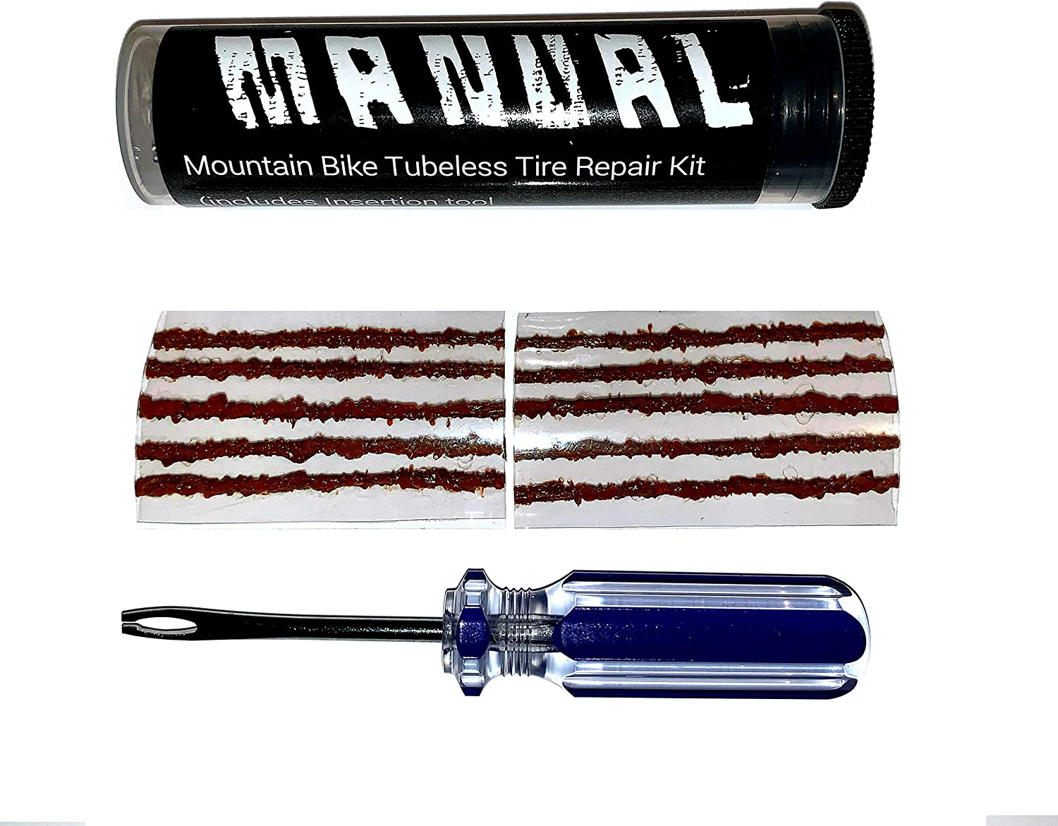 Manual Tubeless Tire Repair Kit MTB Bacon Strips Plus Insertion Tool