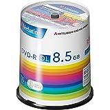 三菱ケミカルメディア Verbatim 1回記録用 DVD-R DL DHR85H100SV1 (片面2層/2-8倍速/100枚パック)