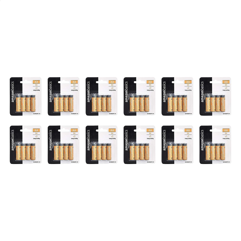 AmazonBasics AA Performance Alkaline Non-Rechargeable Batteries – 48