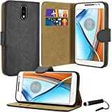 Case Collection Premium Leather Folio Cover for Motorola Moto G4 Case Magnetic Closure Full Protection Book Design Wallet Flip with [Card Slots] and [Kickstand] for Motorola Moto G4 Phone Case