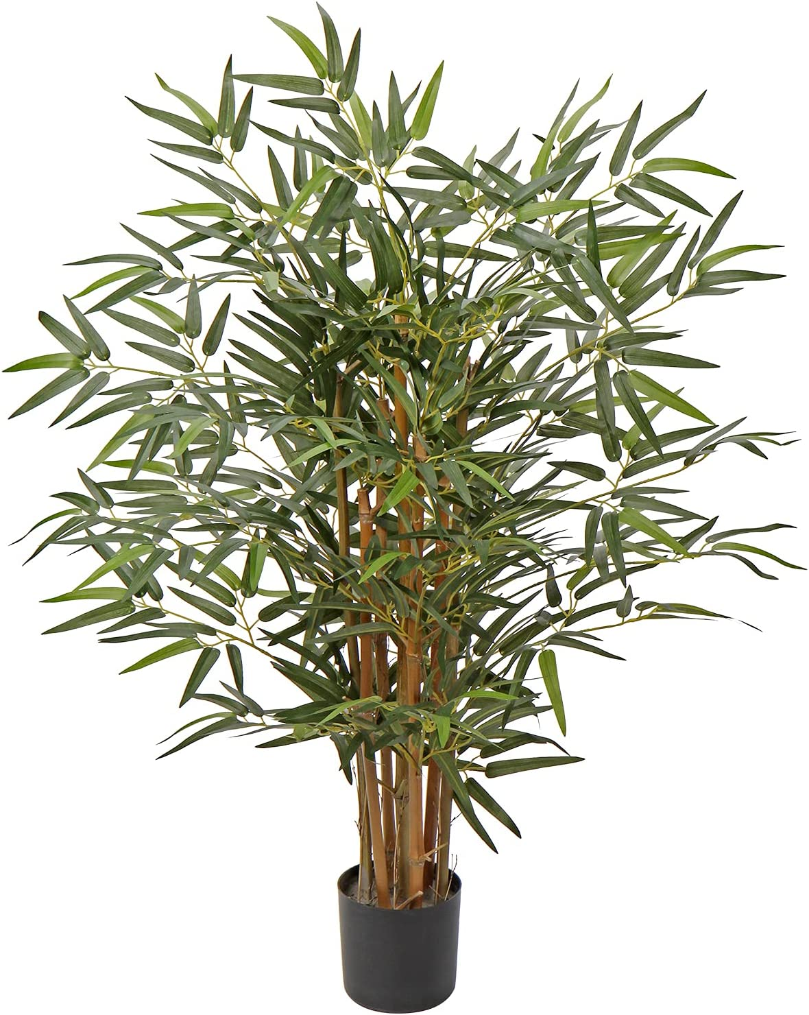 3 Ft / 4 Ft / 5 Ft / 6Ft Artificial Tree Bamboo Silk Plant Artificial Bamboo Tree in Pot Fake Greenery Floor Plants for Home Office Indoor Outdoor Decor (3FT Tree #01)