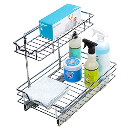 Slide Out Cabinet Organizer 11 W X 18 D X 14 1 2 H Requires At Least 12 Cabinet Opening Kitchen Cabinet Pull Out Two Tier Roll Out Sliding