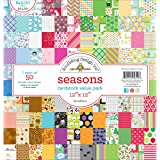 "DOODLEBUG 5719 Value Kit Cardstock 12""X12"" 50/Pkg, Count"