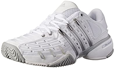 adidas Performance Women's Barricade V Classic W Tennis Shoe,  White/Silver/Grey,