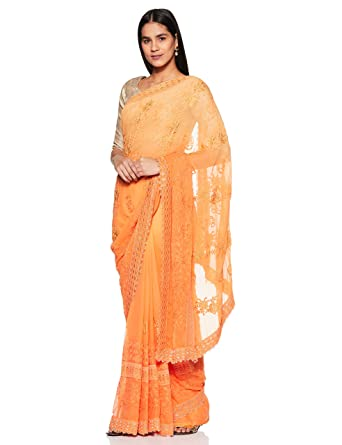 ff311edee7 Amazon.com: Craftsvilla Women's Chiffon Saree with Blouse Piece: Clothing
