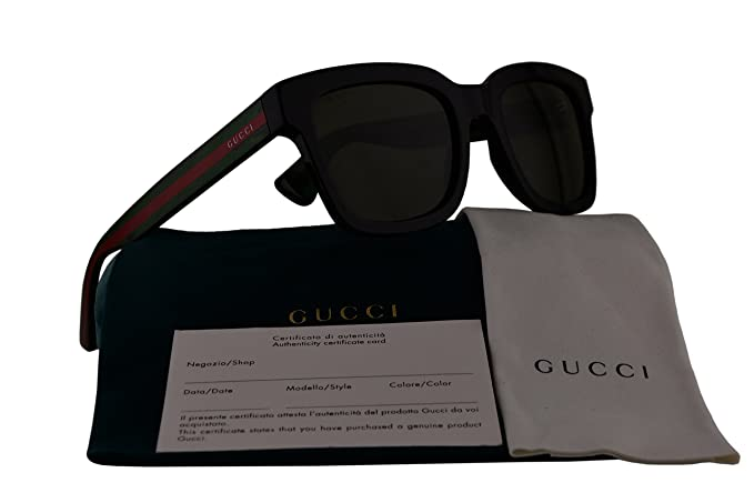 dfd5982f02cb Image Unavailable. Image not available for. Colour: Gucci GG0001S  Sunglasses Black w/Green Lens 002 GG 0001S