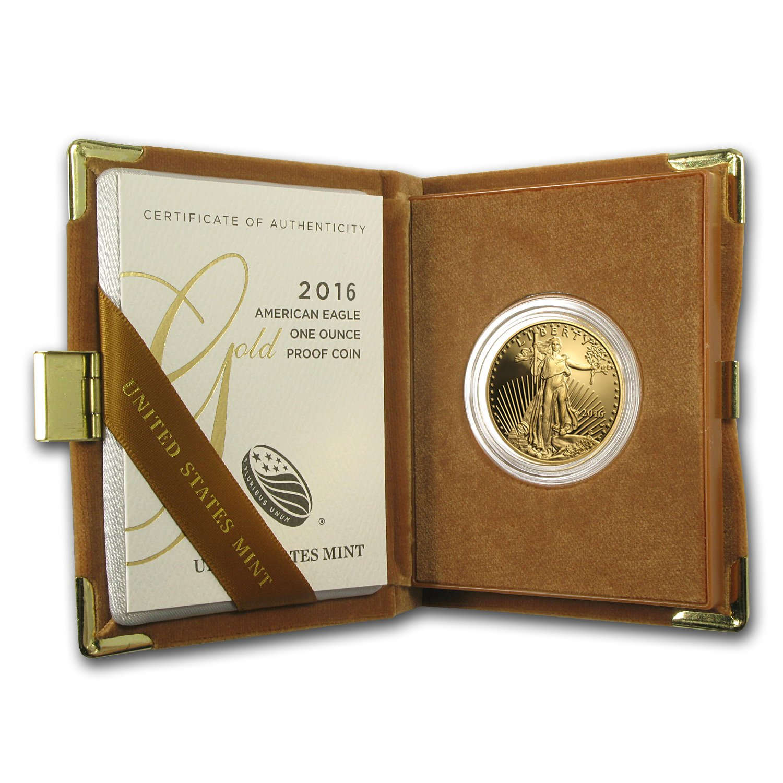 1//10 oz Proof Gold American Eagle Random Year, w//Box /& COA