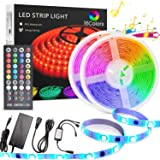 LED strip light kit, YOMYM Waterproof 5050 RGB 300led Strips Lighting Flexible color change with 40 infrared remote…