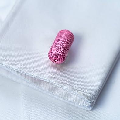 Bull /& Drake 1 paire de boutons de manchette n/œud de soie blanc et noir tissu de haute qualit/é boutons de manchette n/œud Gentleman Wrap poignet /élastique style London poignet