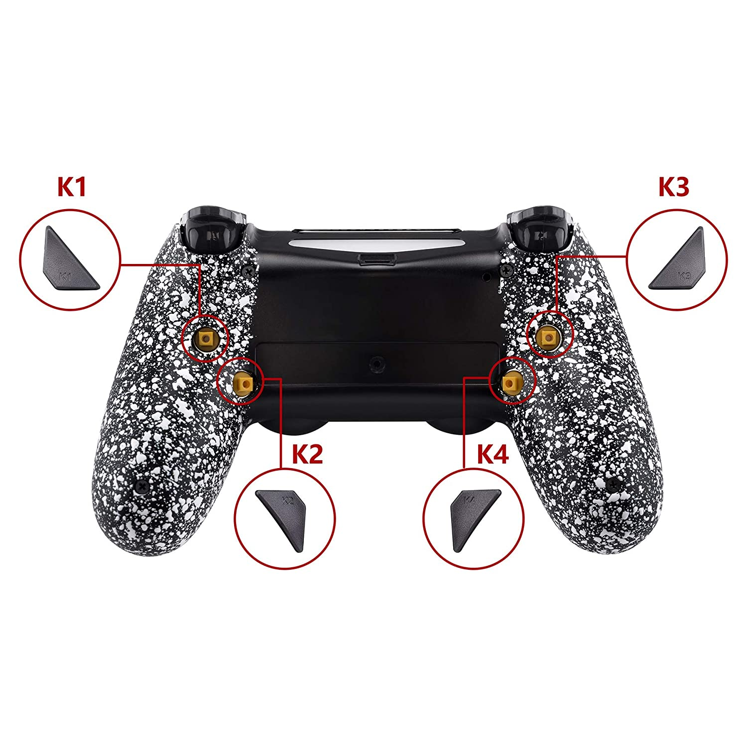 Compatible with JDM-040//050//055-100$ Cash Money Dollar eXtremeRate Dawn Programable Remap Kit for PS4 Controller with Mod Chip /& Redesigned Back Shell /& 4 Back Buttons