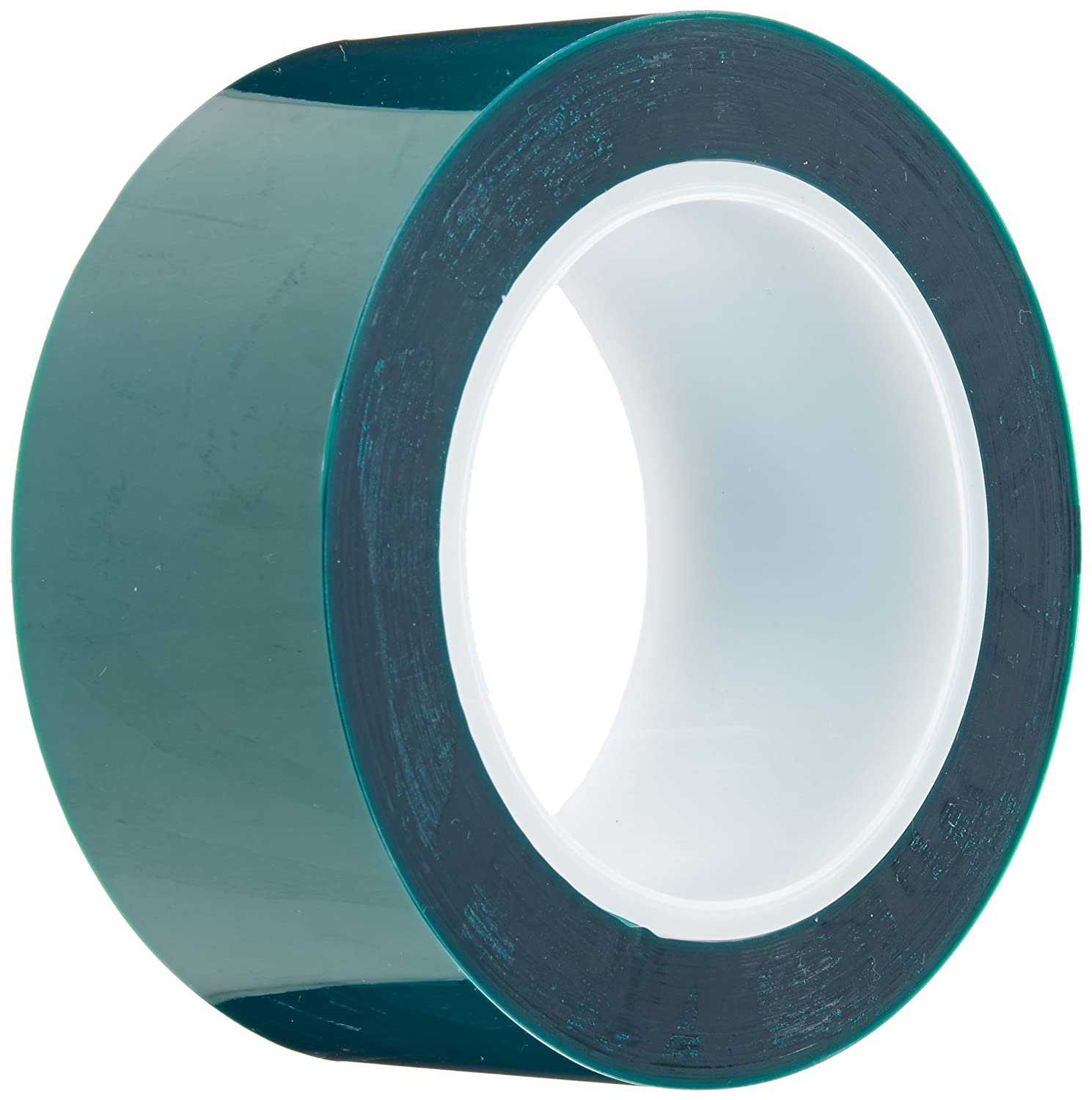 """Maxi 248 Polyester/Silicone Single Coated Splicing Tape, 3.3 mil Thick, 72 yds Length, 2"""" Width, Green"""